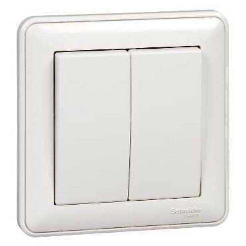Выключатель 2-кл. СП W59 10А IP20 10AX в сборе бел. SchE VS510-252-18