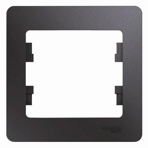 Рамка 1-м Glossa графит SchE GSL001301