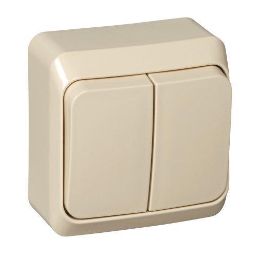 Выключатель 2-кл. ОП Этюд 10А IP20 крем. SchE BA10-002K