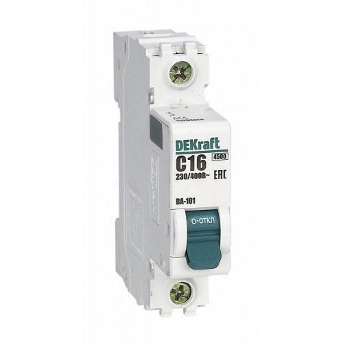 Выключатель автоматический модульный 1п C 16А 4.5кА ВА-101 SchE 11054DEK