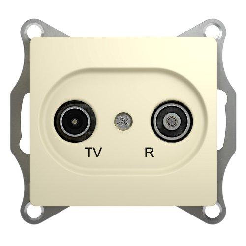 Механизм розетки TV-R 1-м СП Glossa 1DB беж. SchE GSL000294