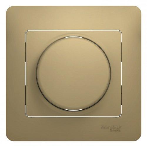 Светорегулятор (диммер) Glossa LED RC 630Вт/В.А в сборе титан SchE GSL000437