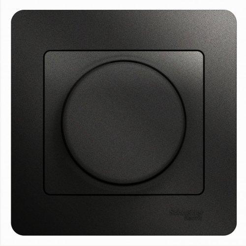 Светорегулятор (диммер) Glossa LED RC 630Вт/В.А в сборе антрацит SchE GSL000737
