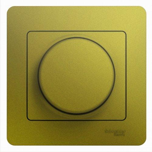 Светорегулятор (диммер) Glossa LED RC 630Вт/В.А в сборе фисташк. SchE GSL001037