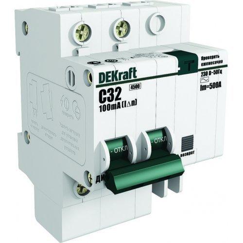 Выключатель автоматический дифференциального тока 2п C 20А 30мА тип AC 4.5кА ДИФ-101 4.5мод. SchE 15004DEK