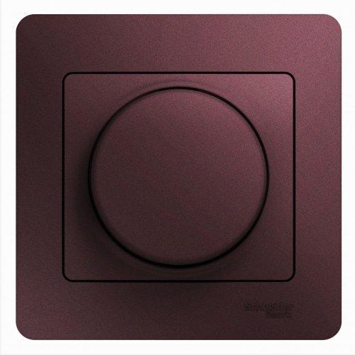 Светорегулятор (диммер) Glossa LED RC 630Вт/В.А в сборе баклажан. SchE GSL001137