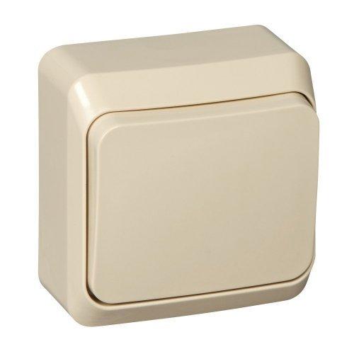Выключатель 1-кл. ОП Этюд 10А IP20 крем. SchE BA10-001K
