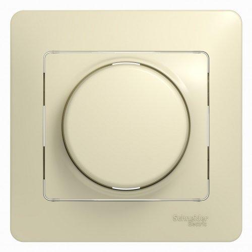 Светорегулятор (диммер) Glossa LED RC 630Вт/В.А в сборе беж. SchE GSL000237