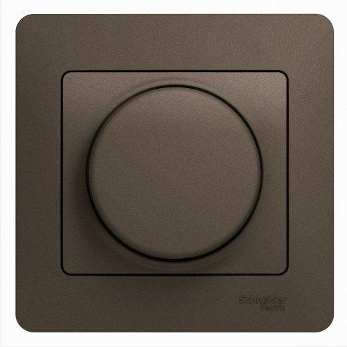 Светорегулятор (диммер) Glossa LED RC 630Вт/В.А в сборе шоколад SchE GSL000837