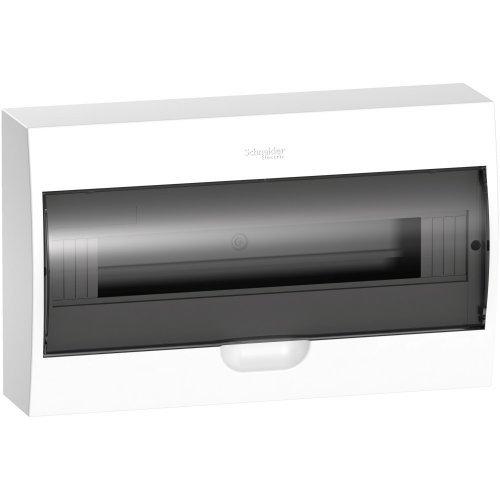 Щит распределительный навесной белый дверь прозрачная на 18 модулей IP40 Easy9