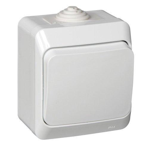 Выключатель 1-кл. ОП Этюд 10А IP44 бел. SchE BA10-041B