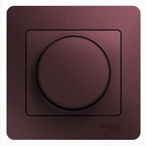 Светорегулятор (диммер) Glossa поворотный 300Вт в сборе баклажан. SchE GSL001134