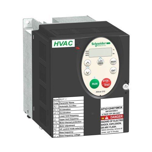 Преобразователь частоты ATV212 0.75кВт 480В IP21 SchE ATV212H075N4