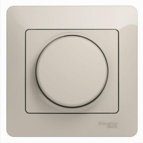 Светорегулятор (диммер) Glossa поворотный 300Вт в сборе молоч. SchE GSL000934