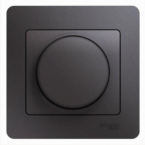 Светорегулятор (диммер) Glossa LED RC 630Вт/В.А в сборе графит SchE GSL001337
