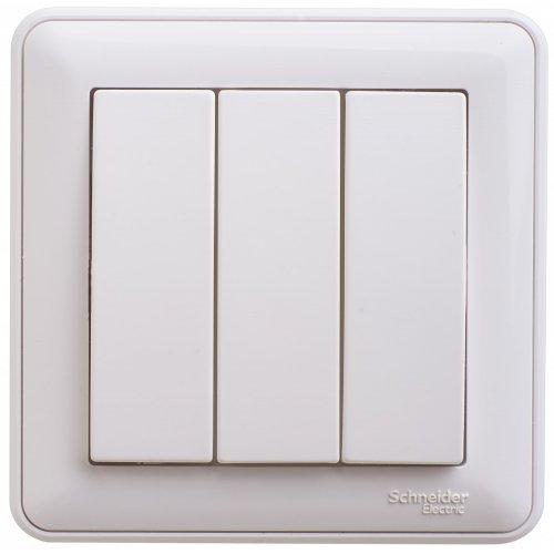Выключатель 3-кл. СП W59 10А IP20 10AX в сборе бел. SchE VS0510-351-18
