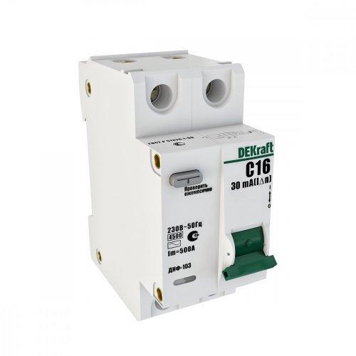 Выключатель авт. диф. тока 1Р+N 40А 30мА AC х-ка С ДИФ-103 4.5кА со вст. защ. от сверхтоков SchE 16017DEK