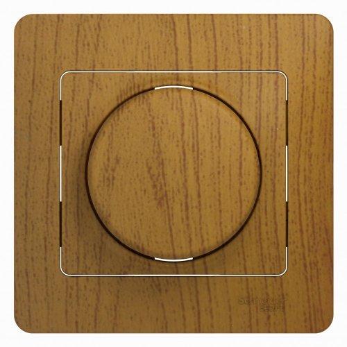Светорегулятор (диммер) Glossa LED RC 630Вт/В.А в сборе дерево дуб SchE GSL000537