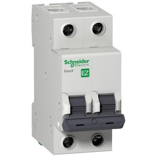 Выключатель автоматический двухполюсный 25A C 4.5кА EASY 9