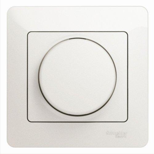 Светорегулятор (диммер) Glossa поворотный 300Вт в сборе перламутр SchE GSL000634