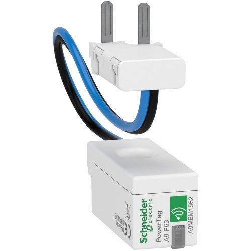 Датчик беспроводной ACTI9 POWERTAG 63А DPN 1P+N / 2P ниже аппарата =S= SchE A9MEM1562