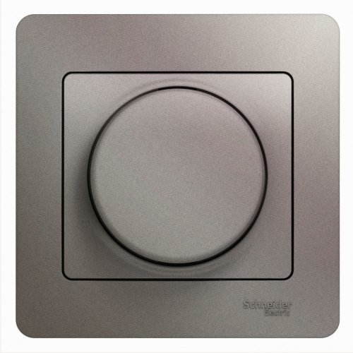 Светорегулятор (диммер) Glossa поворотный 300Вт в сборе платина SchE GSL001234