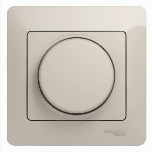 Светорегулятор (диммер) Glossa LED RC 630Вт/В.А в сборе молоч. SchE GSL000937