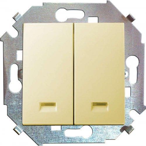 Механизм выключателя 2-кл. СП Simon15 16А IP20 с индик. сл. кость Simon 1591392-031