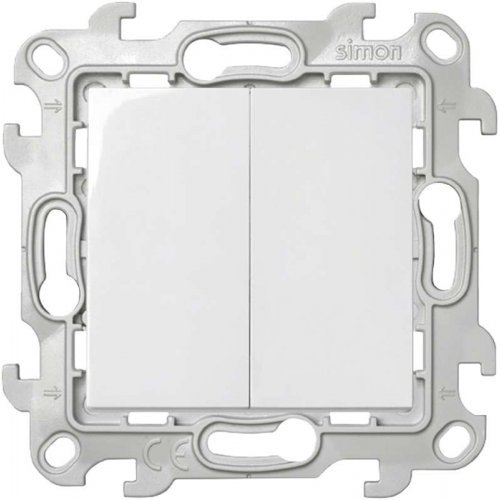 Механизм выключателя 2-кл. Simon24 бел. 2450398-030