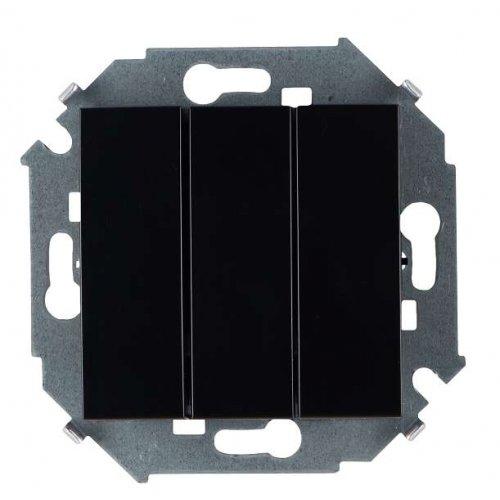 Механизм выключателя 3-кл. СП Simon15 10А IP20 250В винт. зажим черн. Simon 1591391-032