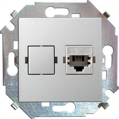 Механизм розетки комп. СП Simon15 RJ45 бел. Simon 1591598-030