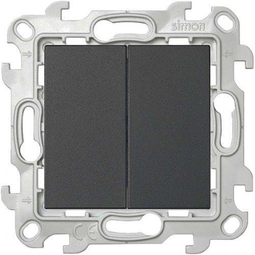 Механизм выключателя 2-кл. Simon24 графит 2450398-038