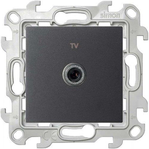 Механизм ТВ розетки проходной Simon24 графит 2410475-038