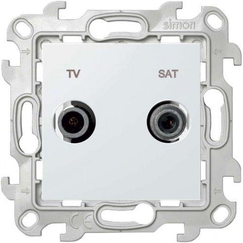 Механизм розетки TV-SAT проходная Simon24 бел. 2410485-030