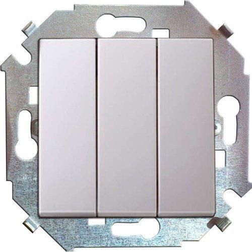 Механизм выключателя 3-кл. СП Simon15 16А IP20 бел. Simon 1591391-030