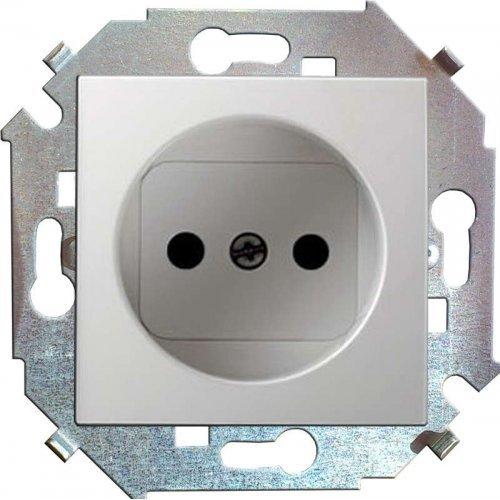 Механизм розетки 1-м СП Simon15 16А IP20 защ. шторки без заземл. бел. Simon 1591444-030