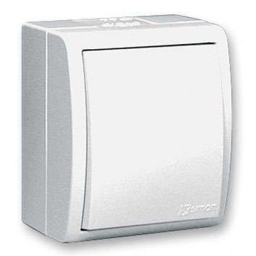 Выключатель 1-кл. ОП Simon15 10А IP54 с индик. бел. Simon 1594104-030
