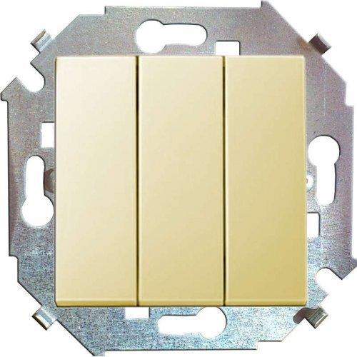 Механизм выключателя 3-кл. СП Simon15 16А IP20 сл. кость Simon 1591391-031