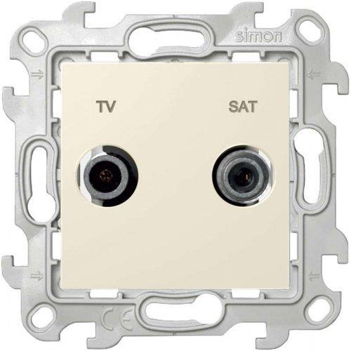 Механизм розетки TV-SAT проходная Simon24 сл. кость 2410485-031
