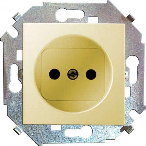 Механизм розетки 1-м СП Simon15 16А IP20 защ. шторки без заземл. сл. кость Simon 1591444-031