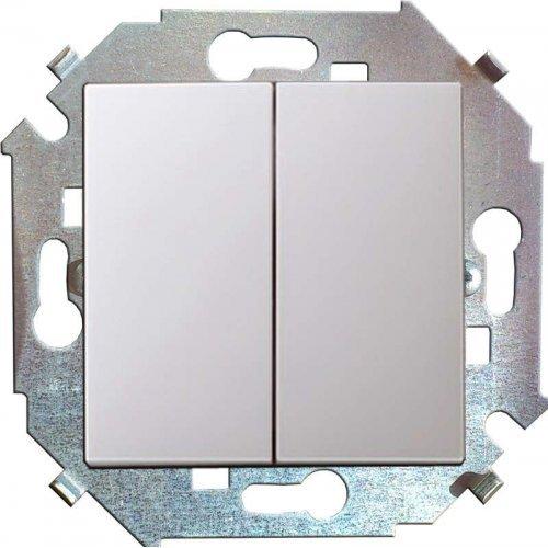 Механизм выключателя проходной 2-кл. СП Simon15 16А IP20 бел. Simon 1591397-030