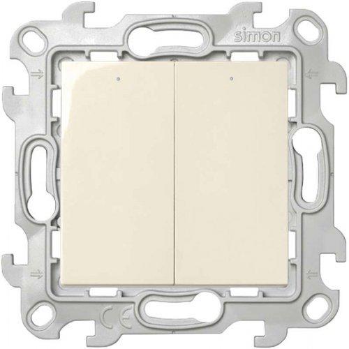 Механизм выключателя 2-кл. с подвсеткой Simon24 сл. кость 2450392-031