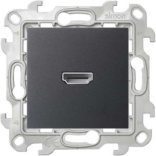 Механизм коннектора HDMI 1.4 Simon24 графит 2411094-038