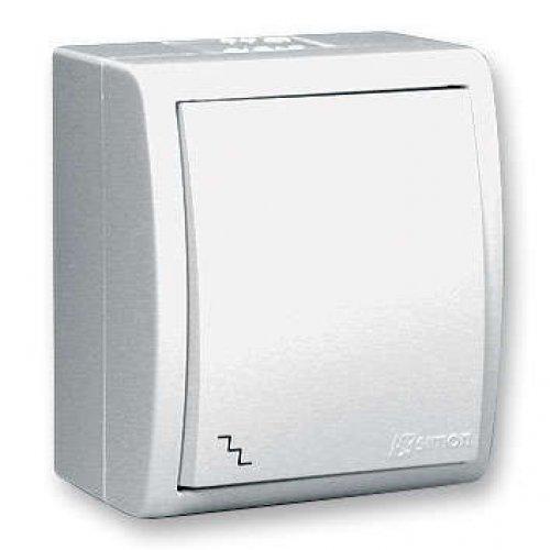 Выключатель проходной 1-кл. ОП Simon15 10А IP54 с индик. бел. Simon 1594204-030