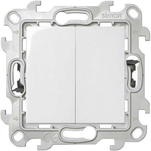 Механизм выключателя 2-кл. Push&Go Simon24 бел. 2420398-030