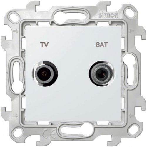 Механизм розетки TV-SAT 1-м Simon24 бел. 2410487-030