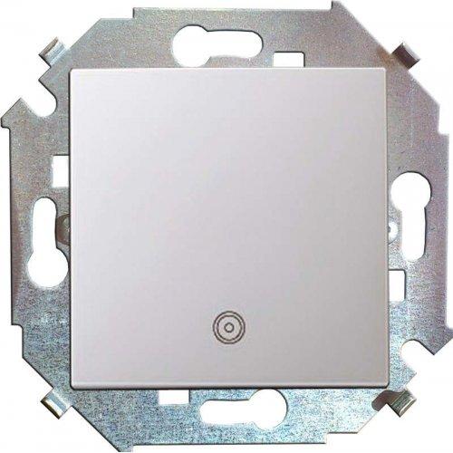Механизм кнопки клавишной 1-м СП с пиктограм. 16А Simon15 бел. 1591150-030
