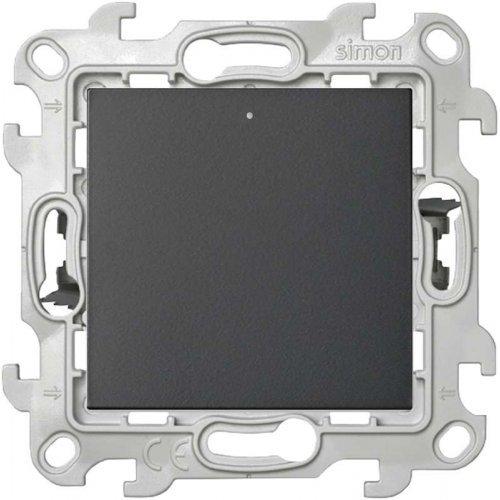 Механизм переключателя с подсветкой Push&Go Simon24 графит 2420204-038