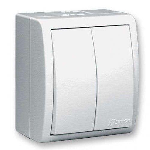 Выключатель 2-кл. ОП Simon15 10А IP54 с индик. бел. Simon 1594399-030