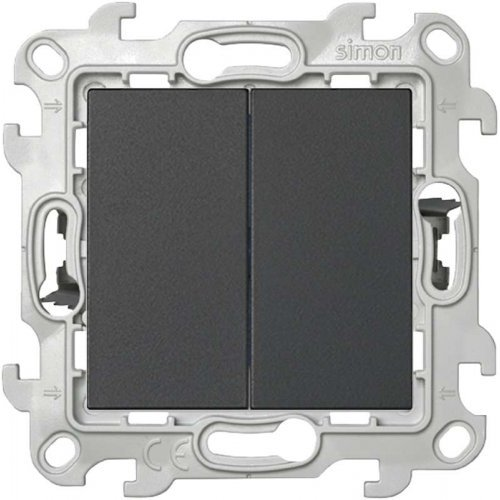 Механизм выключателя 2-кл. Push&Go Simon24 графит 2420398-038
